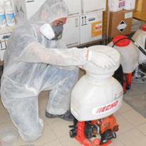 Disinfestazione e disinfezione interni